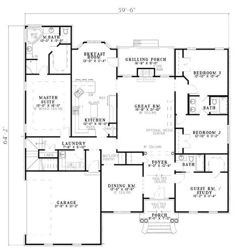 2500 Sq Ft Ranch Floor Plans by Floor Plan For 2500 Sq Ft 1 Level Dream Home