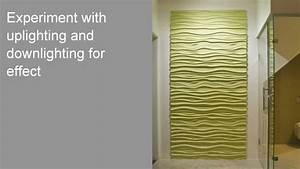 How to install 3d textured wall panels youtube for Kitchen cabinets lowes with fabric panel wall art