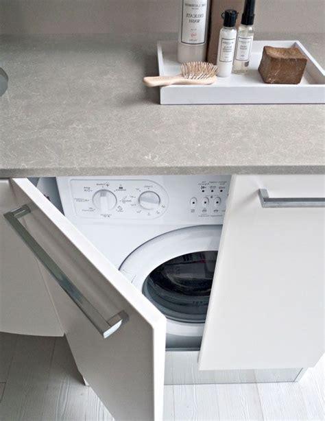 lave linge dans cuisine cacher le lave linge dans un placard maison