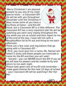 elf on the shelf letters for the classroom leave letters With elf on the shelf class letter