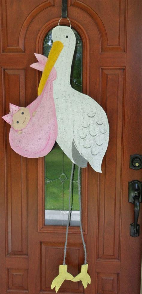 baby door hanger new baby stork burlap door hanger 40 00 via etsy