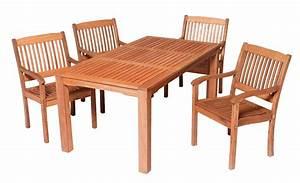 Merxx Gartenmöbel Set : merxx gartenm bel set maracaibo 5 teilig tisch 170 x 90 cm eukalyptusholz ~ Frokenaadalensverden.com Haus und Dekorationen