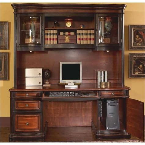 desk and hutch set coaster pergola traditional kneehole credenza and hutch