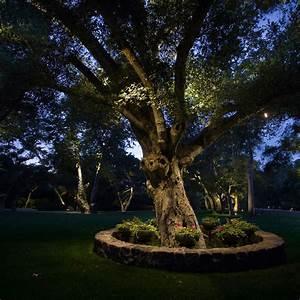 Kichler landscape lighting to the garden design ward log