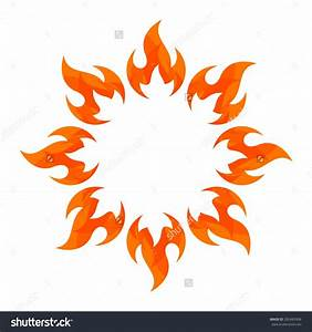 Fire Flame. Fire Logo Vector Template. Fireball Logotype ...