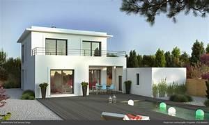 achat maison kube toit terrasse constructeur maison With charming photo maison toit plat 5 photo de maison neuve toit plat