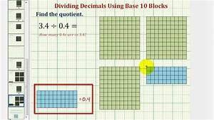 Ex  Determine The Quotient Of Two Decimals Using Base Ten
