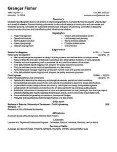 civil engineer description resume civil engineer