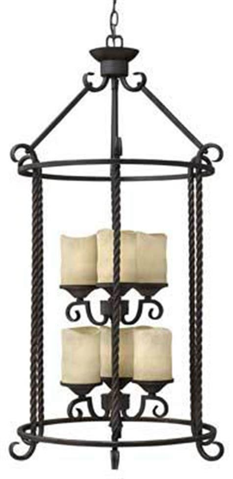 pendant light casa 6 light large foyer chandelier rustic lighting