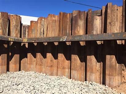 Sheet Piling Shoring Walls Need Scaffolding Using