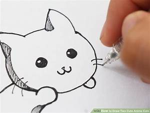 How to Draw Two Cute Anime Cats (with Pictures) - wikiHow