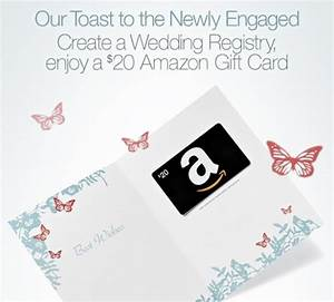 free 20 amazon gift card did you get one simple With amazon gift registry wedding