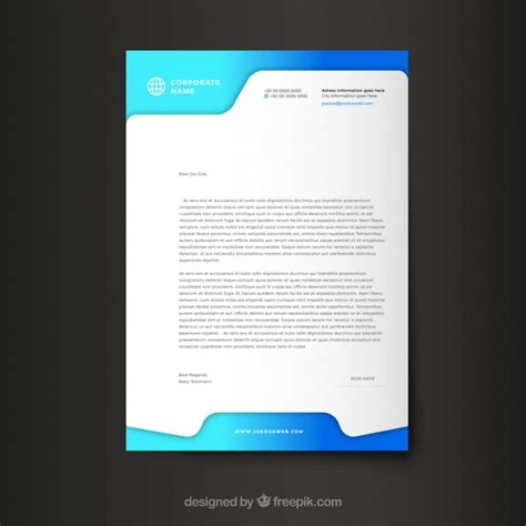 modern corporate letterhead template vector