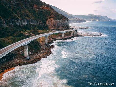 Sea Cliff Bridge Australia From Above