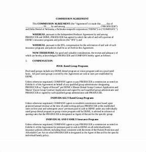 21 commission agreement template free sample example With sales commission letter template