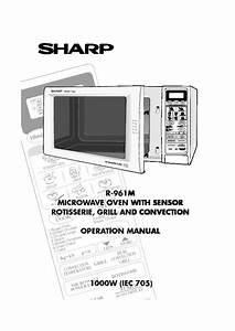 Sharp R  Operation Manual
