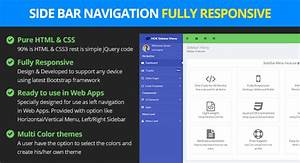 responsive bootstrap sidebar navigation navigation With html side menu bar template