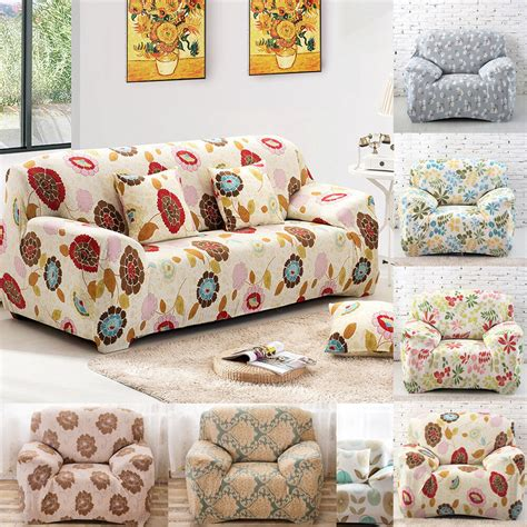 Sofa And Loveseat Slipcovers by 1 Floral Stretch Sofa Slipcovers Cover Sofa