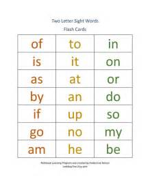 Two Letter Words Worksheets