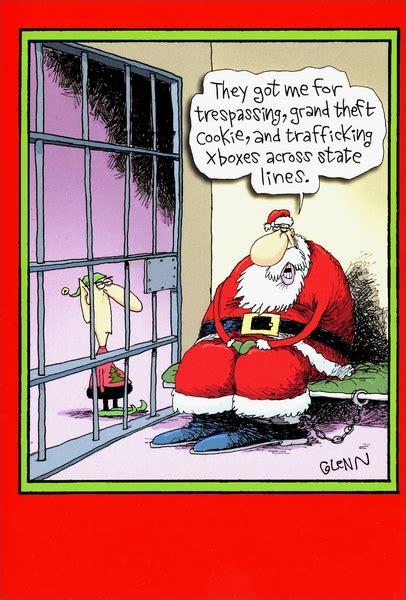santa  jail box   funny humorous christmas cards
