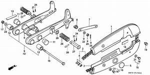 Rear Fork  Chain Case For 1977 Honda C50 C50  Cub