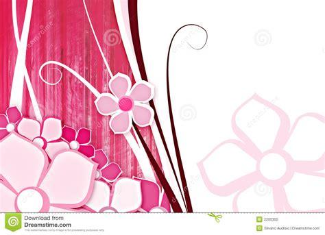 flor  el color de rosa del fondo stock de ilustracion
