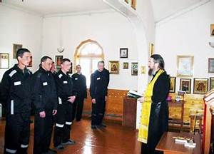 Baptisms performed in a strict regime colony in Russia ...