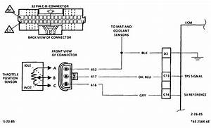 87 Wiring Diagram From The Tps Going In To The Ecm