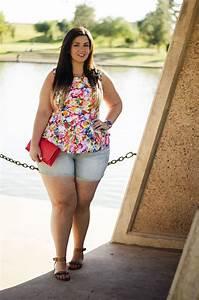 Plus Size Jean Shorts| Kate Spade Clutch | Floral Peplum