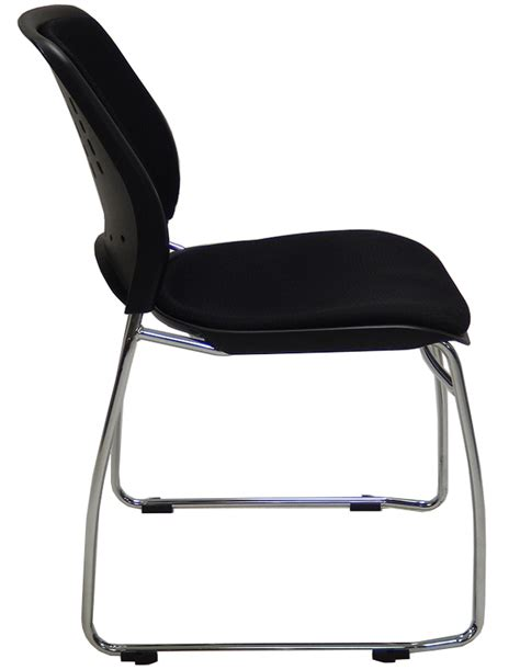300 lb capacity premium padded ganging stack chair