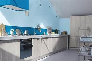 Idee Couleur Mur Cuisine : idee deco couleur mur 5 pour la cuisine un bleu clair ~ Dailycaller-alerts.com Idées de Décoration
