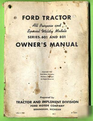 vintage  ford series   tractorowners manual
