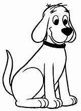 Dog Coloring Pages Dogs Cartoon Clifford Cake Activities Animal sketch template