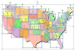 Us State Map PowerPoint Template Free