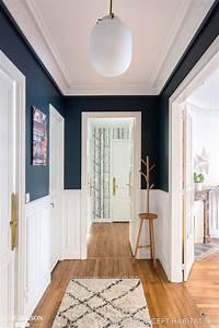 Deco Couloir Blanc : une entr e accueillante en bleu et blanc maison de r ve ~ Zukunftsfamilie.com Idées de Décoration