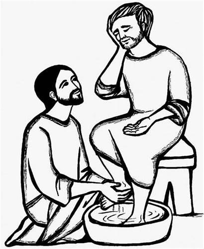 Thursday Holy Catholic Washing Feet Disciples Coloring