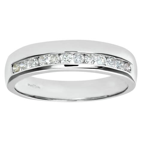 buy everlasting love 9ct w gold diamond 4mm wedding ring size o at argos co uk your online
