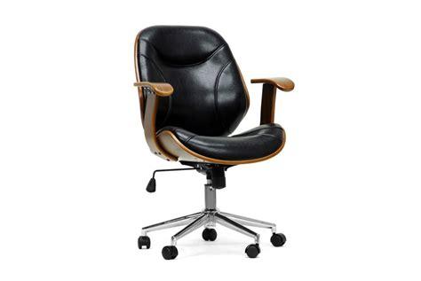 rathburn walnut and black modern office chair affordable