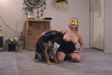 Zoophile Mature Slut Enjoys Her Dogs Huge Boner In Her