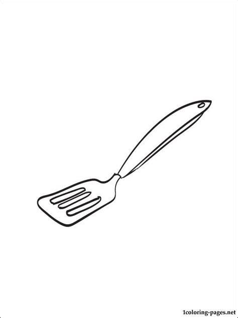 spatula coloring page coloring pages
