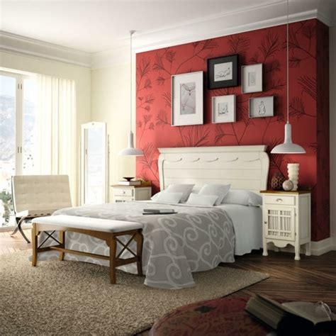 papier peint design chambre la déco rustique conquiert la chambre à coucher