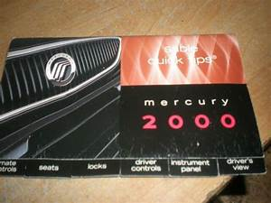 2000 Mercury Sable Quick Tips Owners Manual Supplement