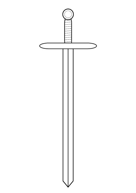 sword template template of a sword clipart best