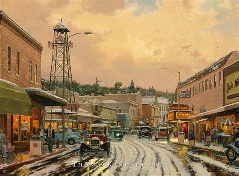 17 Best Images About Thomas Kinkade Winter Art On