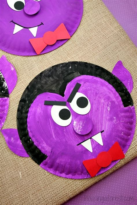 paper plate dracula housing  forest