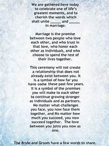 My non religious short and sweet wedding ceremony script for Simple wedding ceremony script non religious