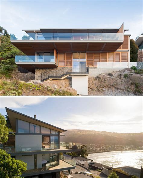 House For A Family In New Zealand by This Hillside Home In New Zealand Was Designed To Capture