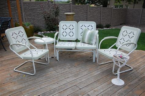retro patio furniture vintage outdoor metal furniture furniture designs