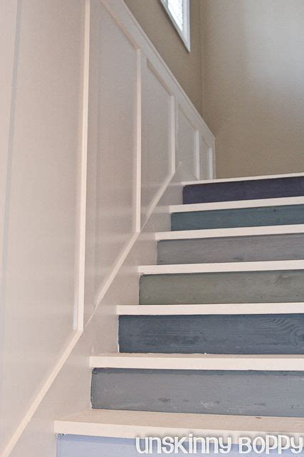 diy show stair risers painted stairs and staircases