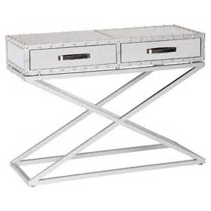 lazio industrial mirrored console table southe target